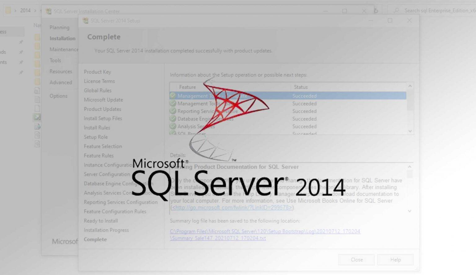 آموزش نصب SQL SERVER 2014